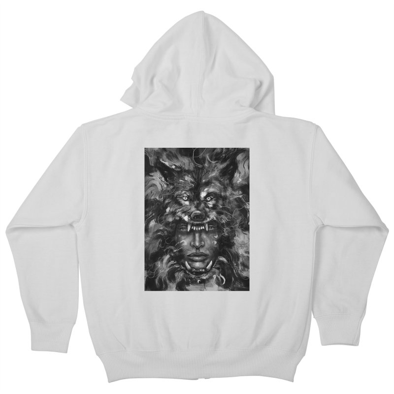 Empress Wolf Kids Zip-Up Hoody by nicebleed