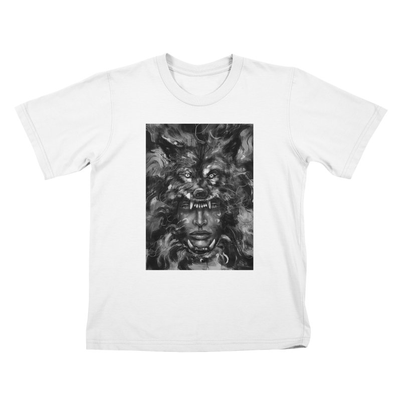 Empress Wolf Kids T-shirt by nicebleed