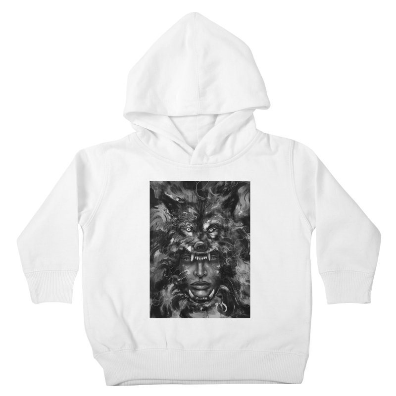 Empress Wolf Kids Toddler Pullover Hoody by nicebleed