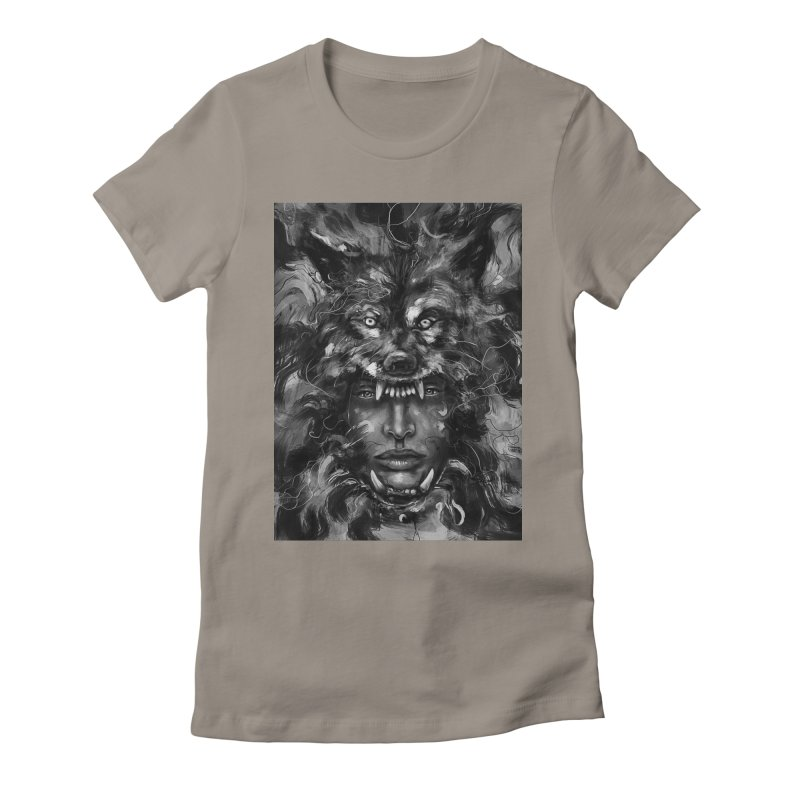 Empress Wolf Women's Fitted T-Shirt by nicebleed