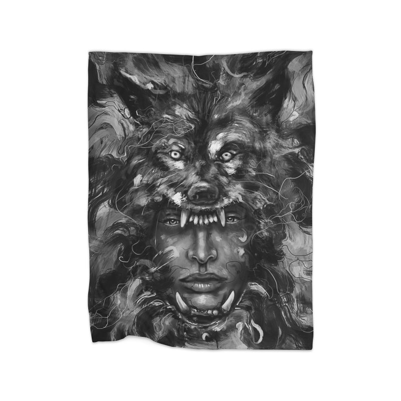 Empress Wolf Home Blanket by nicebleed