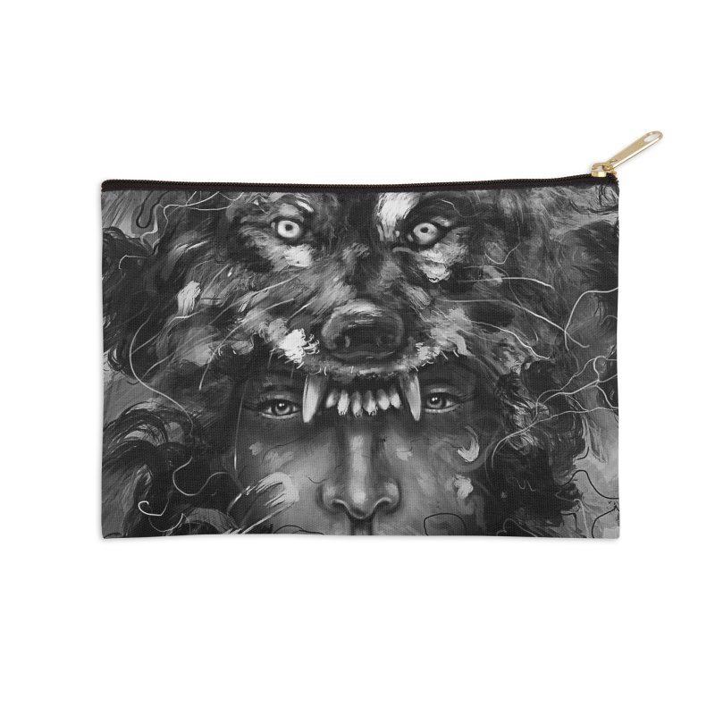 Empress Wolf Accessories Zip Pouch by nicebleed