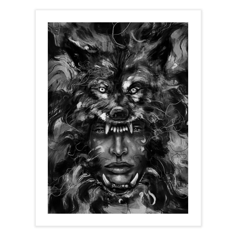 Empress Wolf Home Fine Art Print by nicebleed