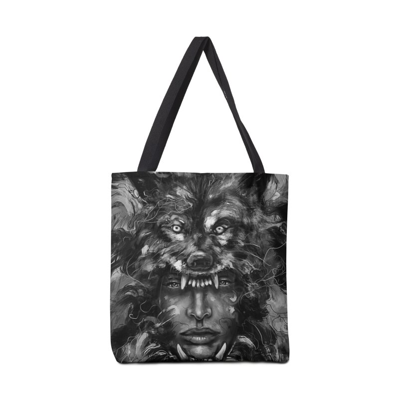 Empress Wolf Accessories Bag by nicebleed