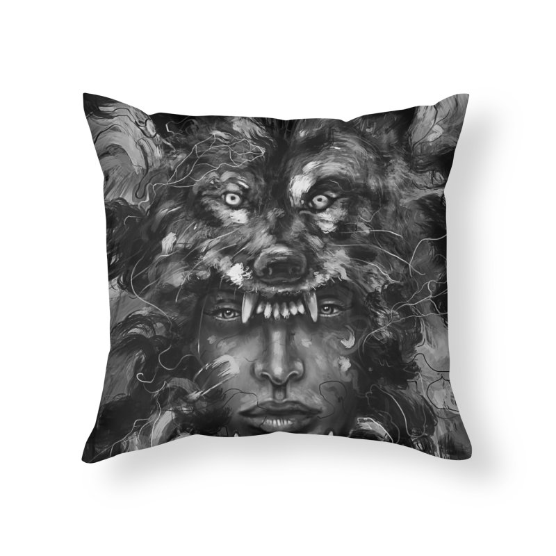 Empress Wolf Home Throw Pillow by nicebleed