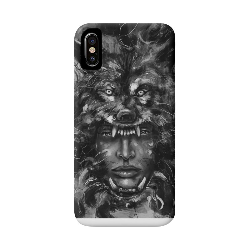 Empress Wolf Accessories Phone Case by nicebleed