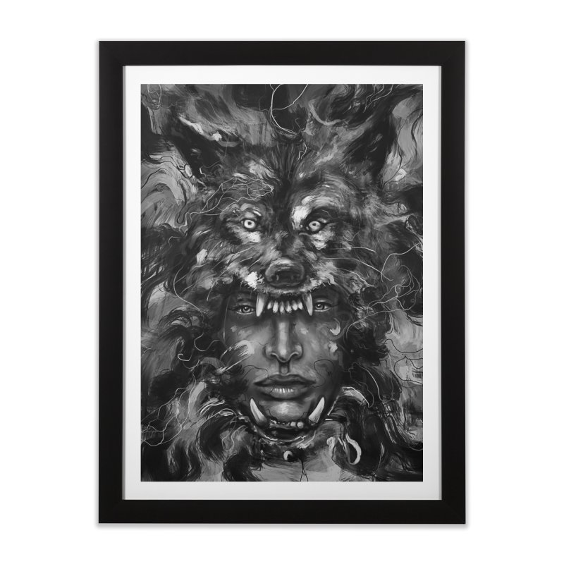 Empress Wolf Home Framed Fine Art Print by nicebleed