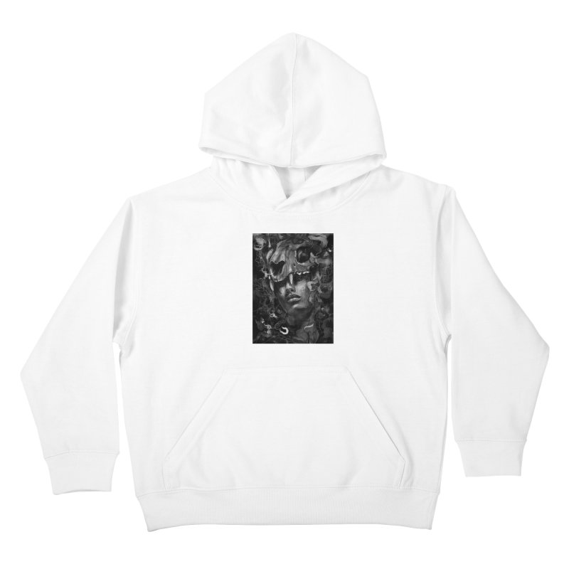 Empress Lion Skull Kids Pullover Hoody by nicebleed
