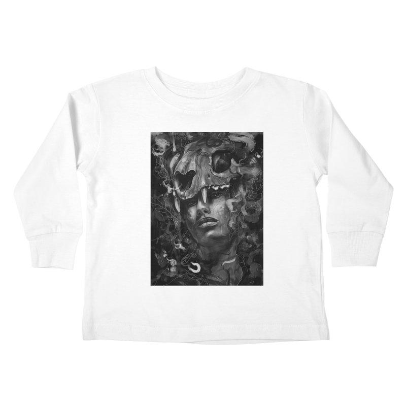 Empress Lion Skull Kids Toddler Longsleeve T-Shirt by nicebleed