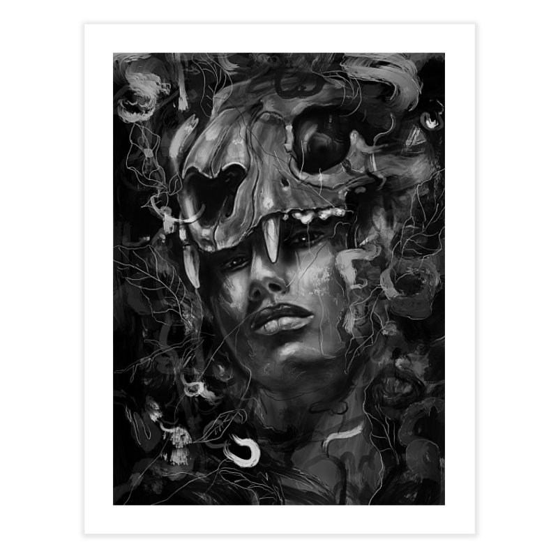 Empress Lion Skull Home Fine Art Print by nicebleed