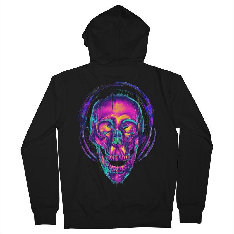 Trippy Skull Women's Zip-Up Hoody by nicebleed