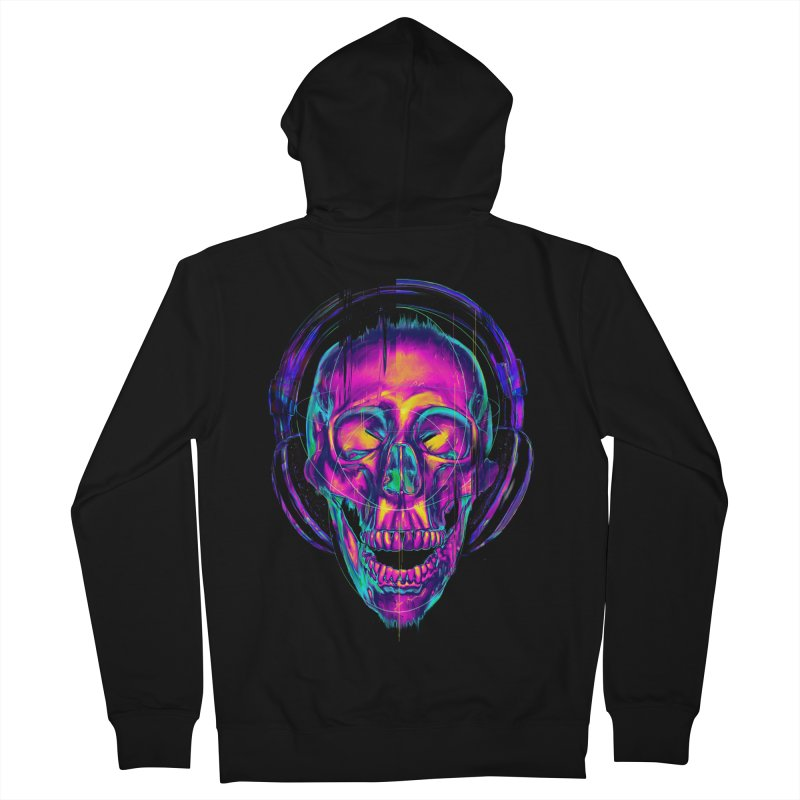 Trippy Skull Men's Zip-Up Hoody by nicebleed