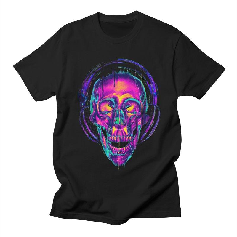 Trippy Skull Men's T-shirt by nicebleed