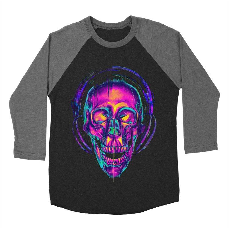 Trippy Skull Women's Baseball Triblend T-Shirt by nicebleed
