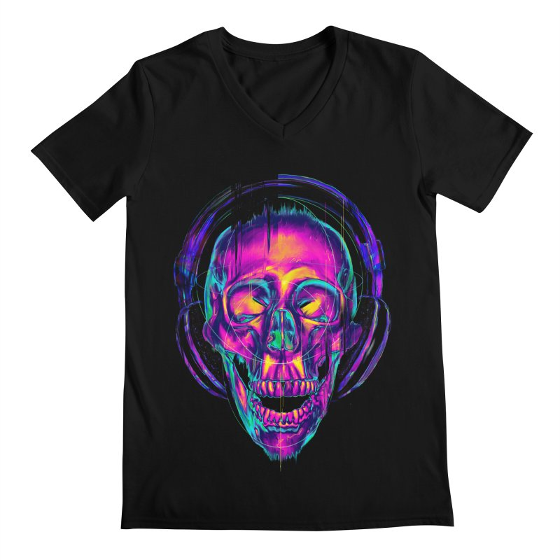 Trippy Skull Men's V-Neck by nicebleed