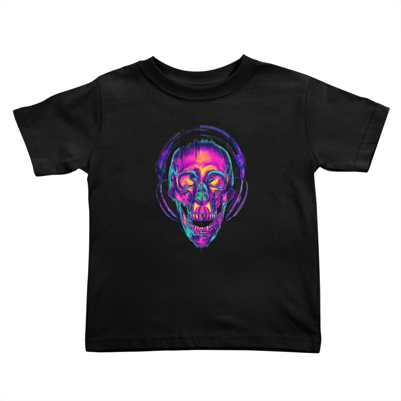 Trippy Skull Kids Toddler T-Shirt by nicebleed