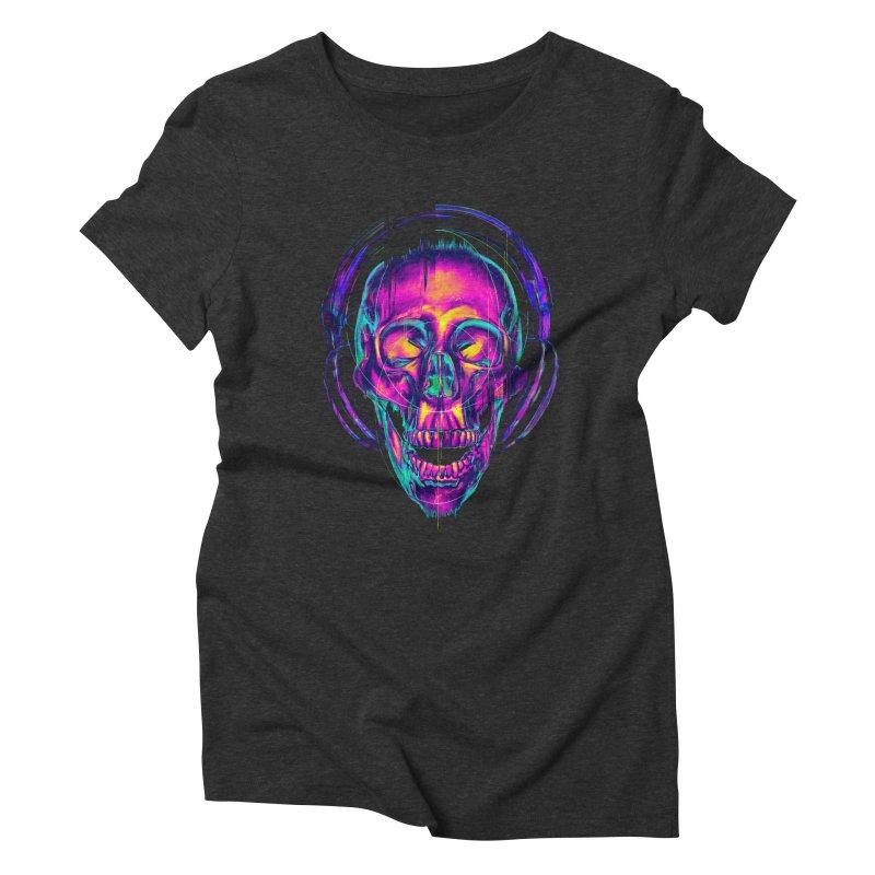 Trippy Skull Women's Triblend T-shirt by nicebleed