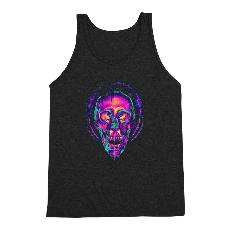 Trippy Skull Men's Triblend Tank by nicebleed