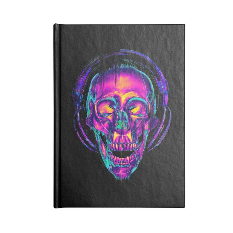 Trippy Skull Accessories Notebook by nicebleed
