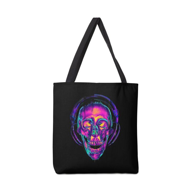 Trippy Skull Accessories Bag by nicebleed