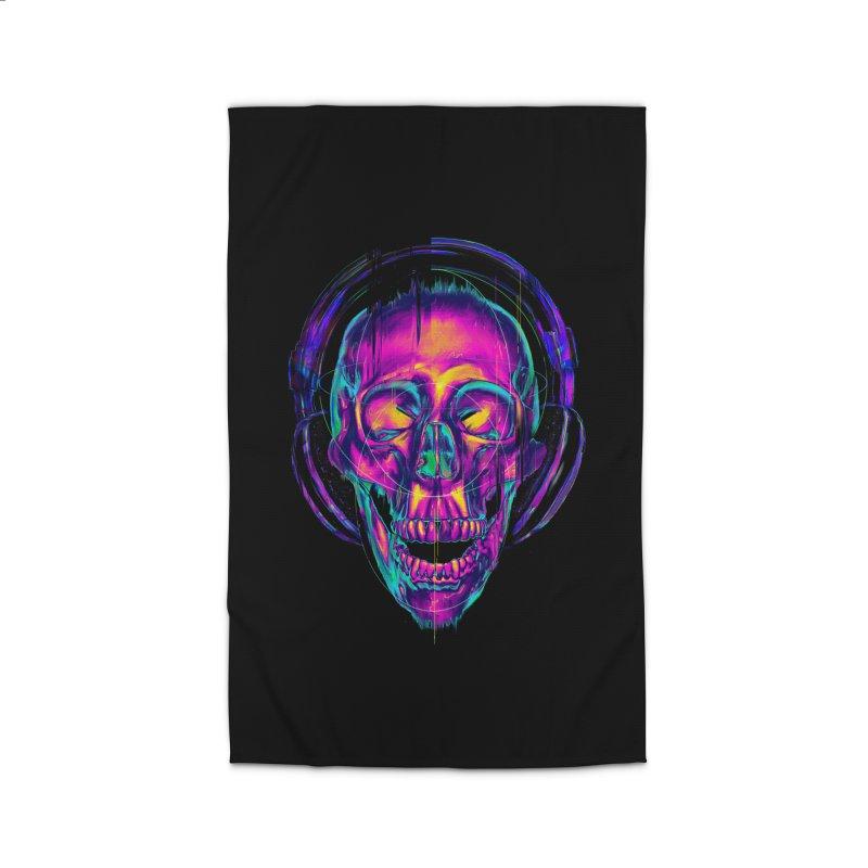 Trippy Skull Home Rug by nicebleed