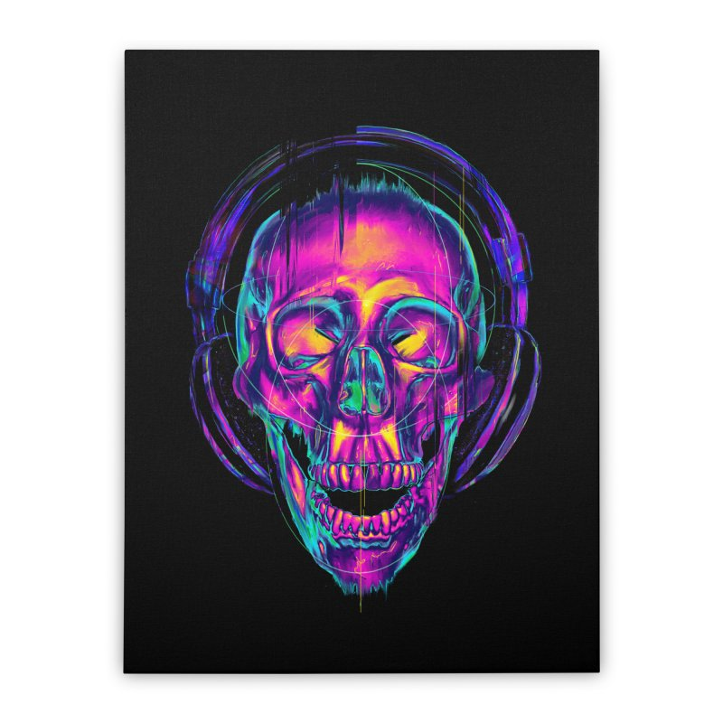 Trippy Skull Home Stretched Canvas by nicebleed