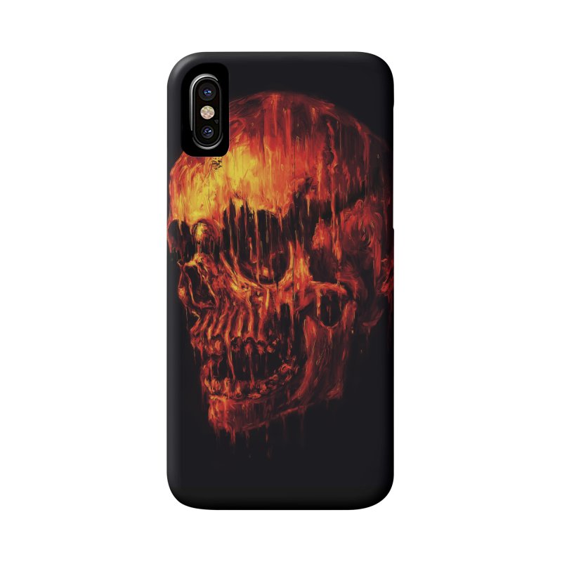 Melting Skull Accessories Phone Case by nicebleed