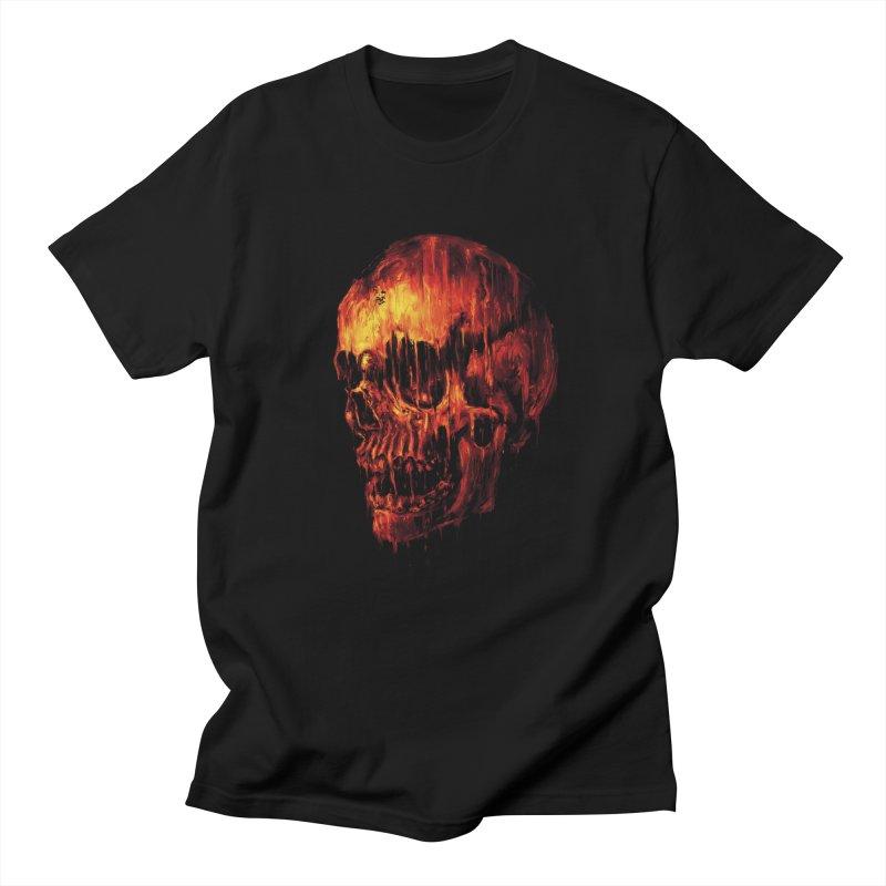 Melting Skull in Men's Regular T-Shirt Black by nicebleed