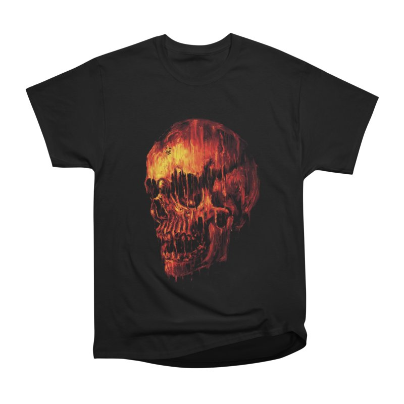 Melting Skull Women's Classic Unisex T-Shirt by nicebleed