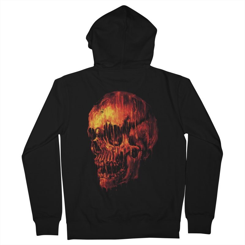 Melting Skull Men's Zip-Up Hoody by nicebleed