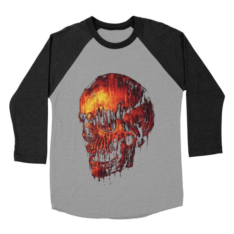 Melting Skull Women's Baseball Triblend T-Shirt by nicebleed