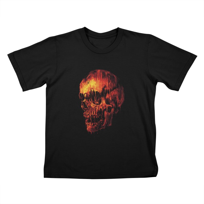 Melting Skull Kids T-shirt by nicebleed