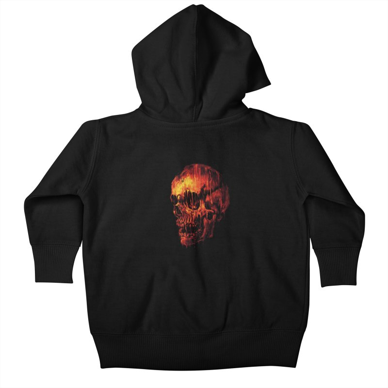 Melting Skull Kids Baby Zip-Up Hoody by nicebleed