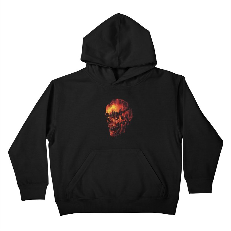 Melting Skull Kids Pullover Hoody by nicebleed