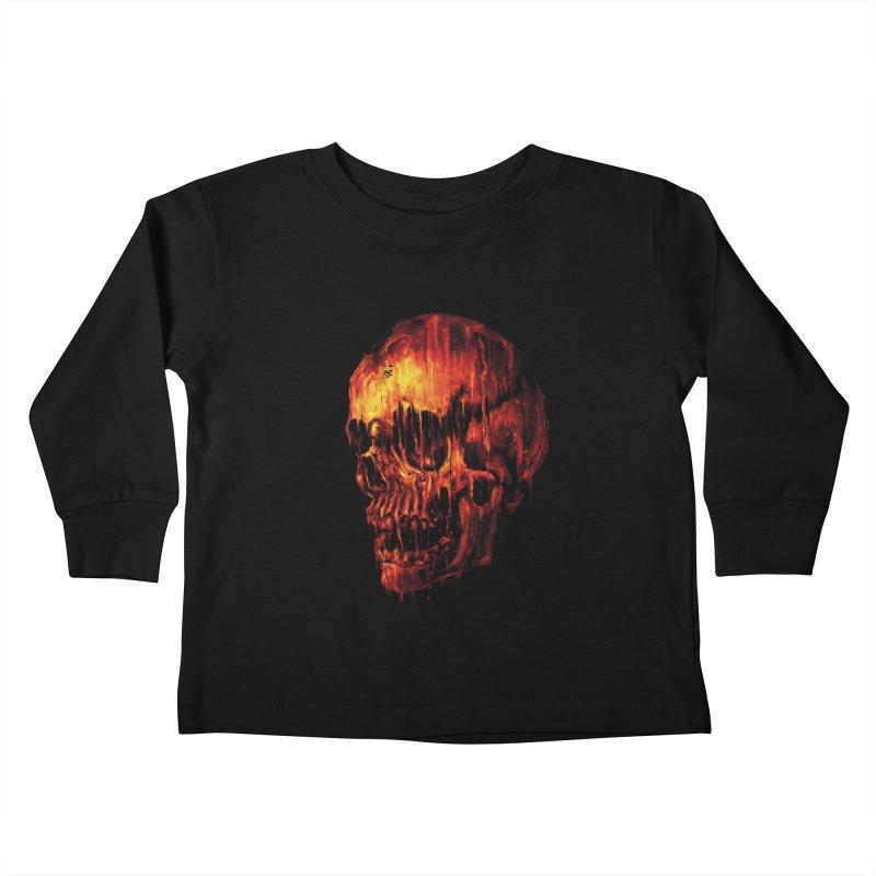 Melting Skull Kids Toddler Longsleeve T-Shirt by nicebleed