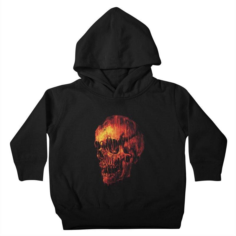 Melting Skull Kids Toddler Pullover Hoody by nicebleed