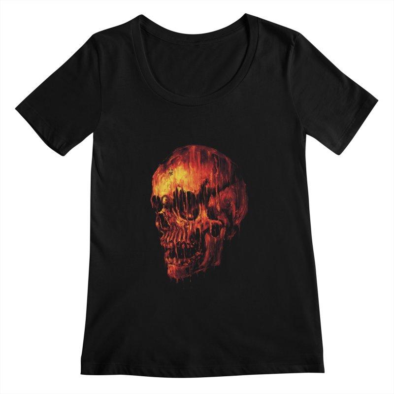 Melting Skull Women's Scoopneck by nicebleed