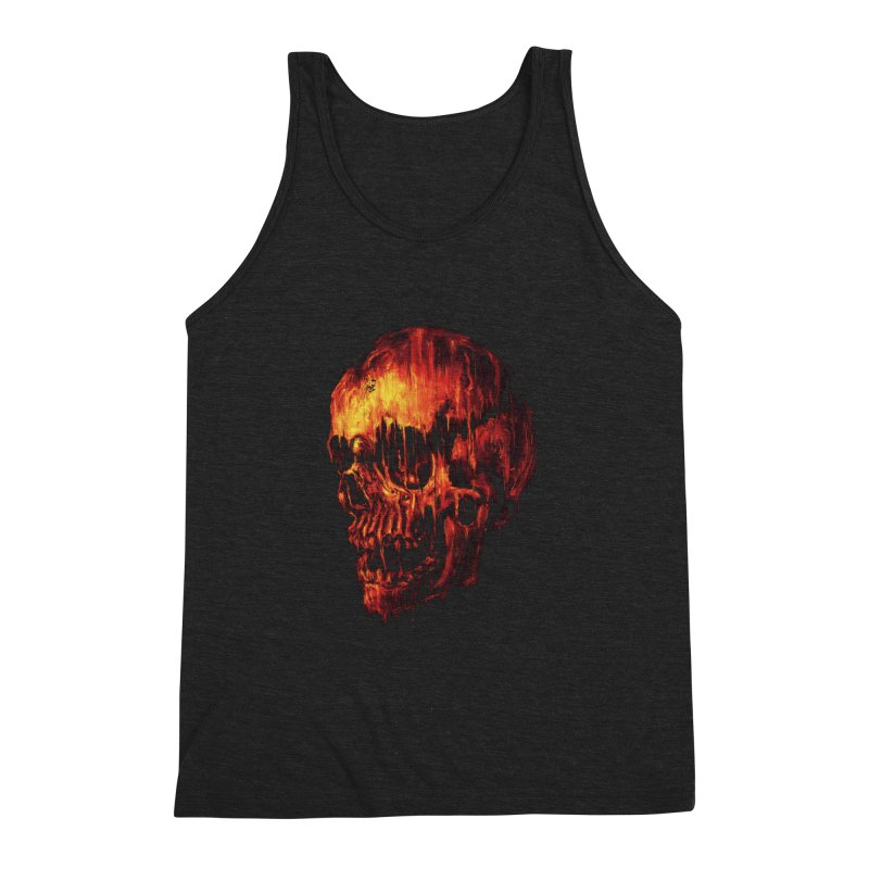 Melting Skull Men's Triblend Tank by nicebleed