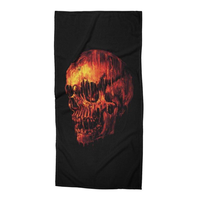 Melting Skull Accessories Beach Towel by nicebleed