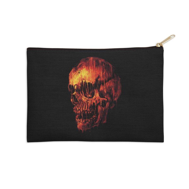 Melting Skull Accessories Zip Pouch by nicebleed