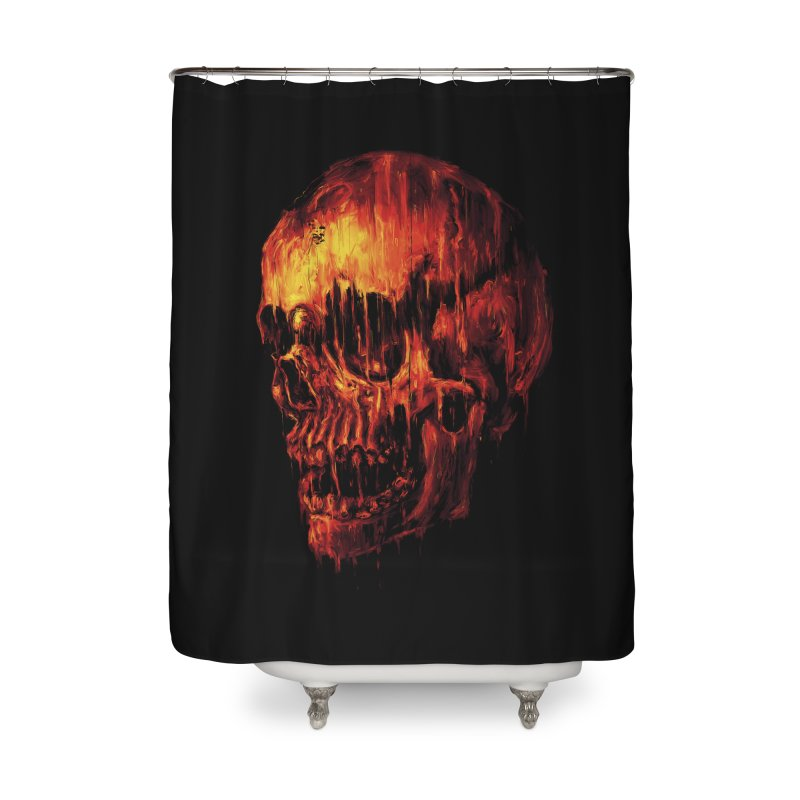 Melting Skull Home Shower Curtain by nicebleed