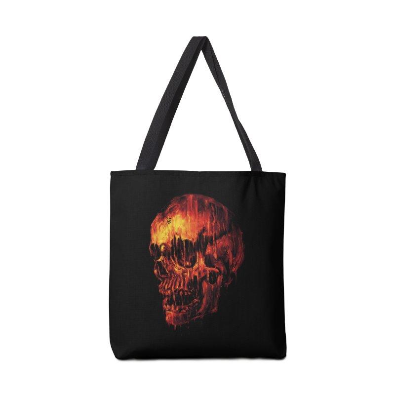 Melting Skull Accessories Bag by nicebleed