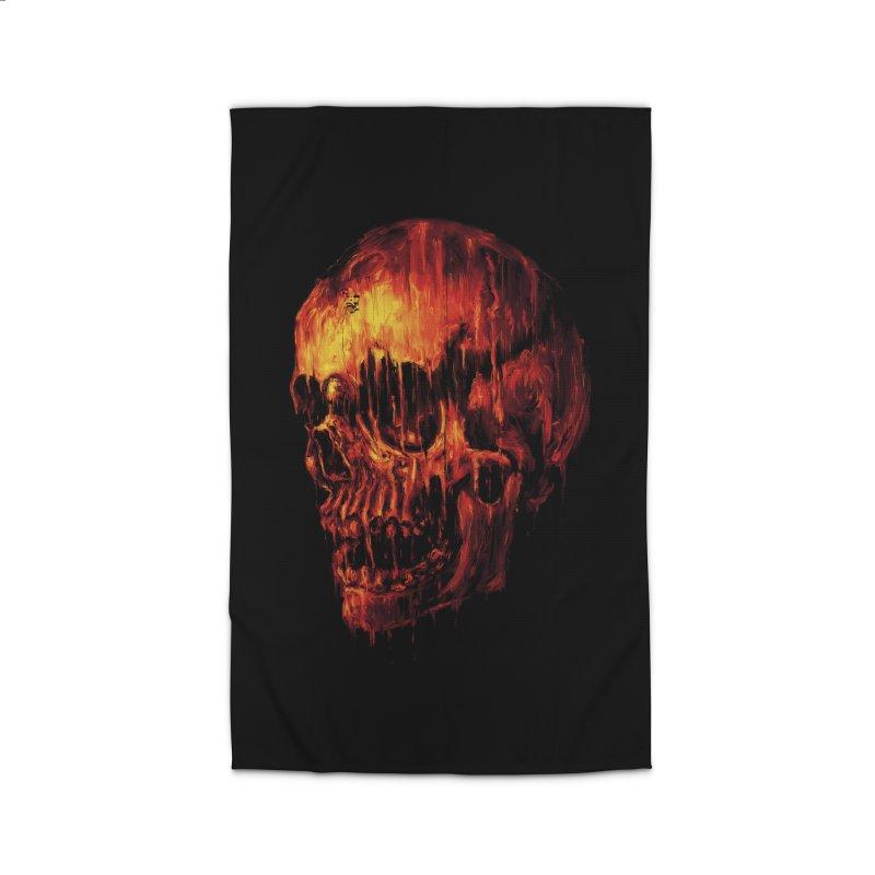 Melting Skull Home Rug by nicebleed