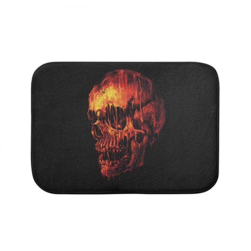 Melting Skull Home Bath Mat by nicebleed
