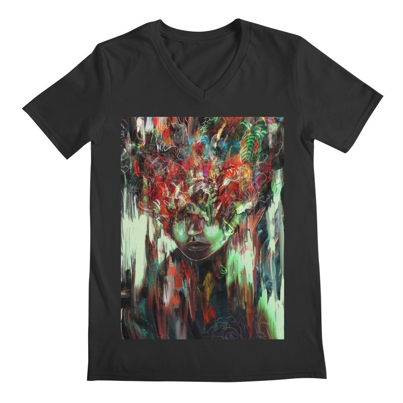 Chaotic Mind Men's V-Neck by nicebleed