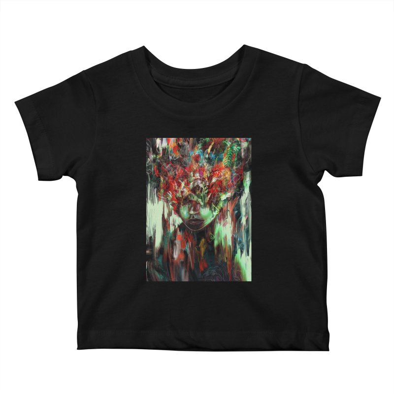 Chaotic Mind Kids Baby T-Shirt by nicebleed
