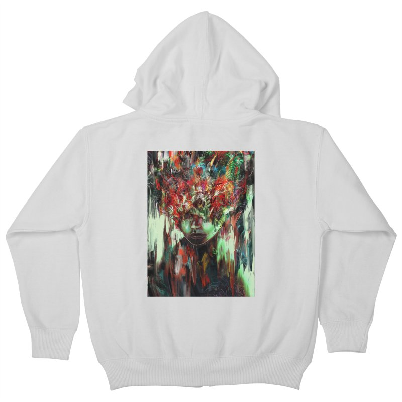 Chaotic Mind Kids Zip-Up Hoody by nicebleed