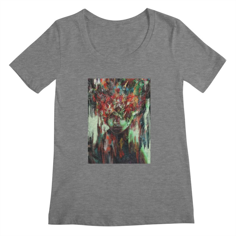 Chaotic Mind Women's Scoopneck by nicebleed