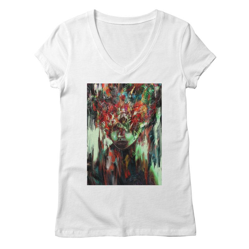 Chaotic Mind Women's V-Neck by nicebleed