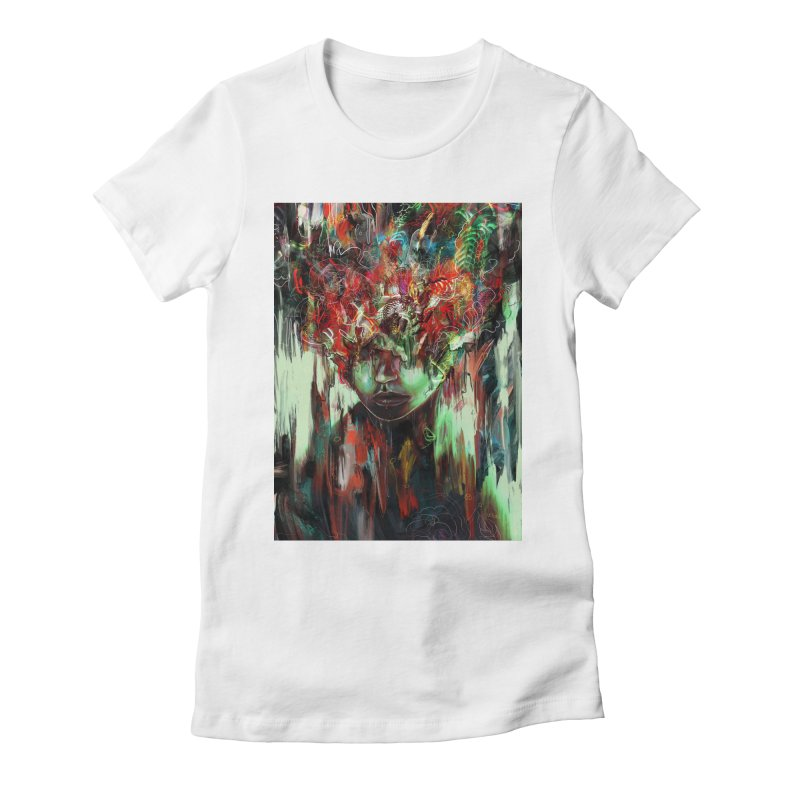 Chaotic Mind Women's Fitted T-Shirt by nicebleed